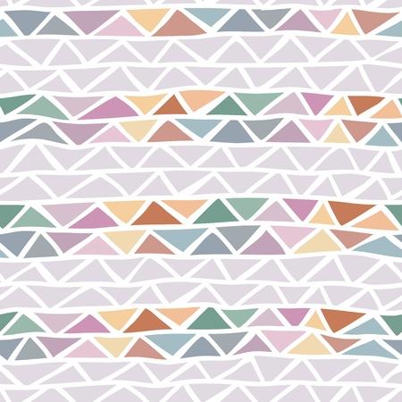diamond shaped: abstract triangle seamless pattern Illustration