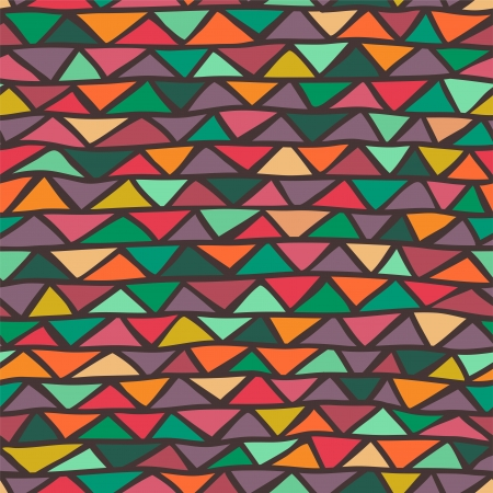abstract triangle seamless pattern Illustration
