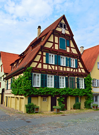 Old typical German house (Fachwerkhaus) in Tuebingen, Germany