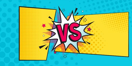 Versus Comic Banner Vs Comics Book On Halftone Background Vector Royalty Free Cliparts Vectors And Stock Illustration Image 131142986