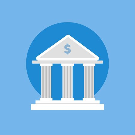 Bank icon isolated on white background. Vector illustration. Eps 10.