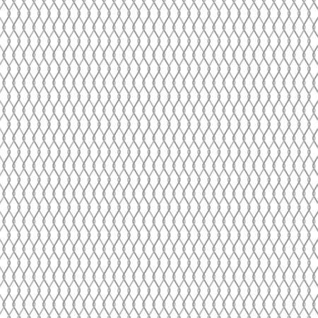 Vector metal chain link fence background. Wire fence pattern isolated on white.