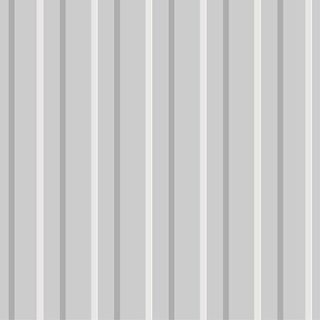 Vector seamless background of corrugated metal profiled panel. Aluminum fence. Wall panels texture. Galvanized steel wall plate. Vertical lines pattern.