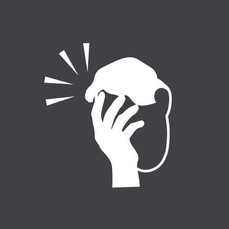 Icon of man with a gestures facepalm expression. Man with hand flopping her forehead. Headache, disappointment or shame. Epic fail emotion. Isolated vector illustration. Illusztráció