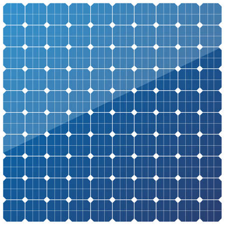 Solar battery panel texture. Modern alternative eco energy concept. Vector illustration pattern isolated on white background. Vetores