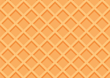 Seamless waffle texture or pattern. Sweet ice cream background. Vector illustration