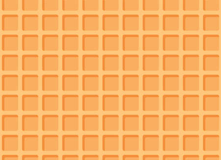 Seamless waffle texture or pattern. Ice cream cone background. Vector illustration. Illustration