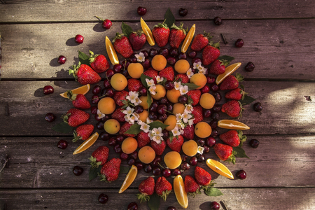 seamlessly: fruit platter Stock Photo