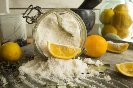 salted Moroccan lemons