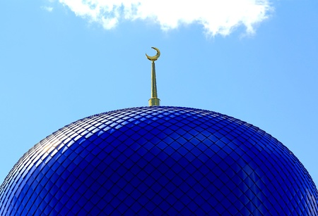 Roof of Islam temple of the South Russia Stock Photo