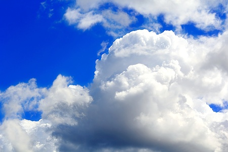 Beautiful picture with summer blue cloudiness sky