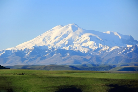 Image with highest top of Europe Elbrus photo