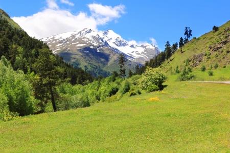 elbrus: Image of beautiful landscape with Caucasus mountains