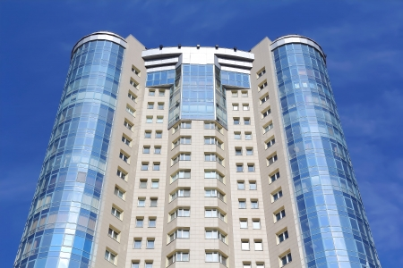 Image of skyscraper with blue sky Russia Stock Photo - 16526549