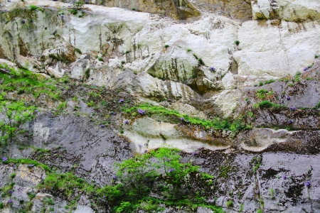 roughness: Image of colorful roughness gritty mountain wall Stock Photo