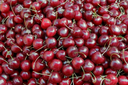 garden stuff: Image of background fresh dark red cherry Stock Photo