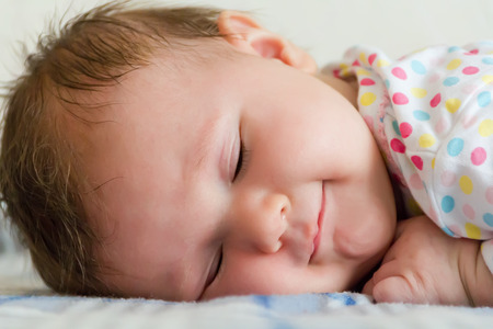 1 2 month: cute sleeping newborn girl Stock Photo
