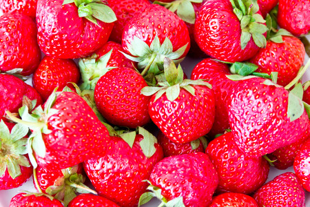 garden stuff: Photo of the background fresh red strawberries Stock Photo