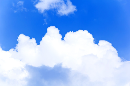 skyscapes: Photo of summer blue sky with white clouds