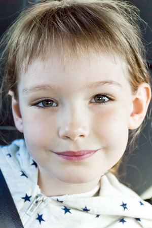 Portrait of cute girl eight years old