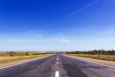 sectoring: Photo of day landscape with road perspective