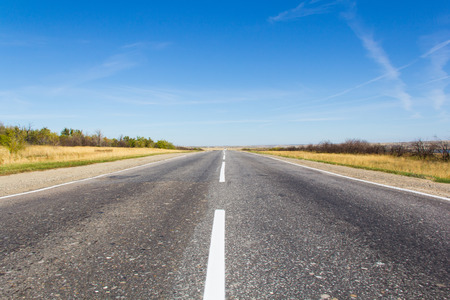 sectoring: Photo of day landscape with empty road Stock Photo