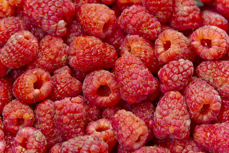 garden stuff: Photo of the background fresh red raspberry Stock Photo