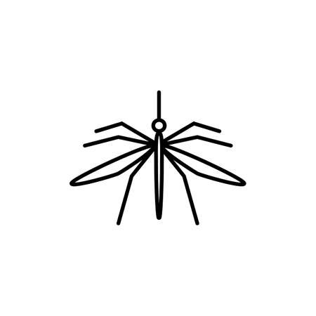 Mosquito vector icon in outline style, isolated on a white background.