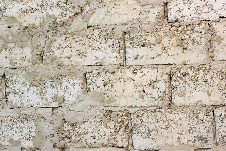 Vintage or grungy white background of natural stone old wall. Stock Photo