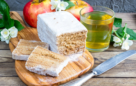 pastila: Traditional Russian dessert - pastila. selective focus.