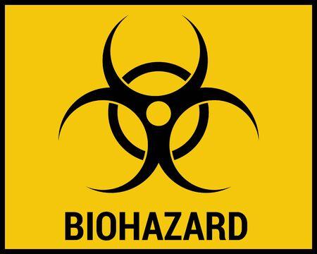 Bio hazard design over yellow background vector illustration