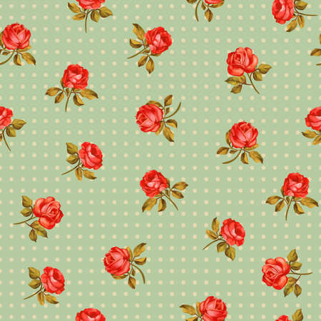 Beautiful seamless floral pattern, flower vector illustration. Elegance wallpaper with of pink roses on floral background. Decorative Beautiful vector illustration texture. Illustration
