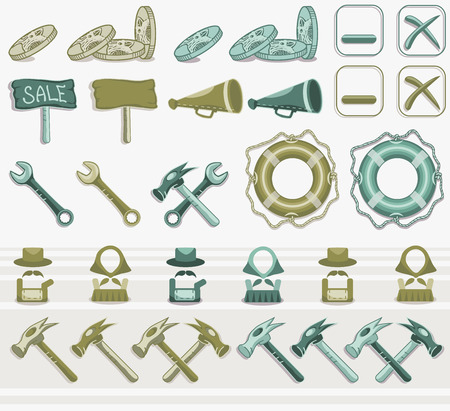 tooling: Tooling and helping Icon set