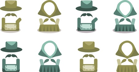 Icon set for friends and guests. Stock Vector - 27513456
