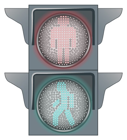 permit: Stop and Go on the Traffic lights Illustration
