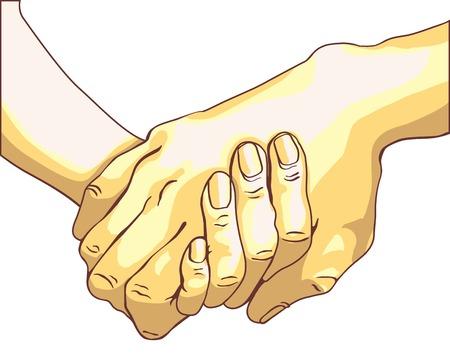 Handshake of two people
