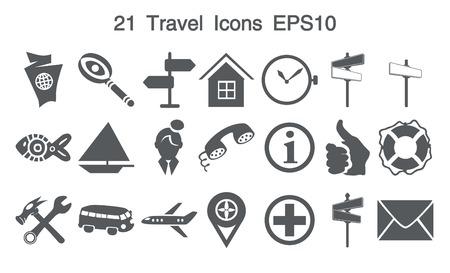 21 Grey Icons