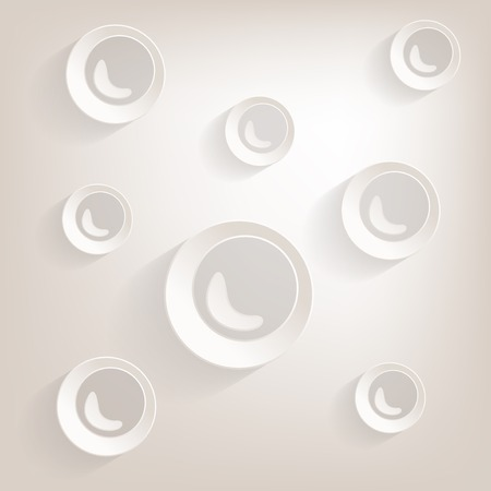 freshness: Flat bubble Icon with shadow Illustration