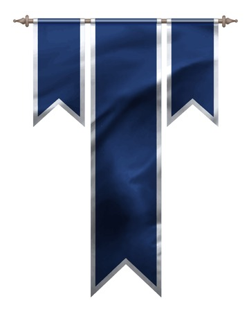 triple: Blue triple flag