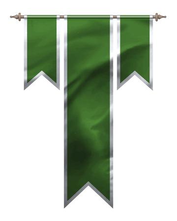 pleat: Green triple flag Illustration