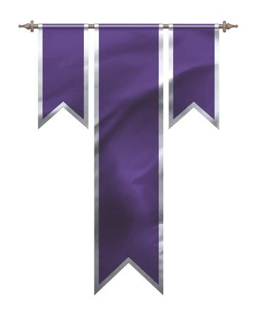 morado: Púrpura de la bandera de triple Vectores