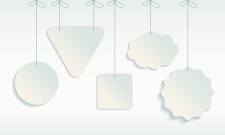 giveaway: Set of paper sale icons Vectores