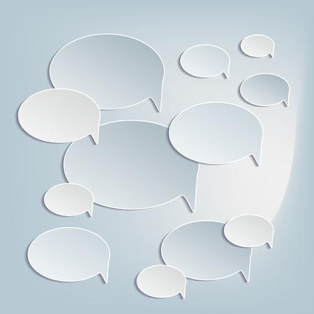 proclaim: Coud of Paper bubbles icons
