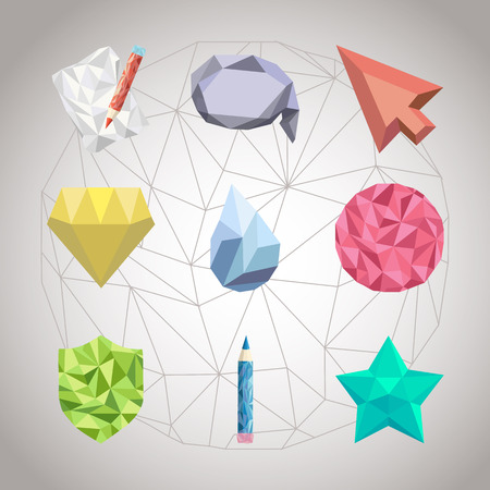 crystallization: Abstract geometric shapes from triangular faces