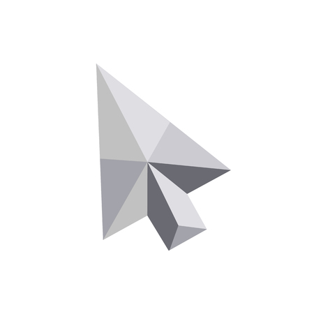 volume: Abstract geometric shape from triangular faces