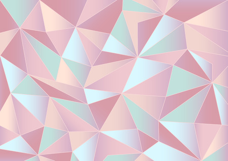 Abstract pastel triangles 3d background Illustration