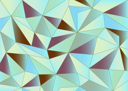 crystallization: Abstract pastel triangles 3d background Illustration