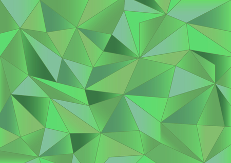 crystallization: Abstract green triangles background