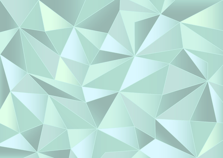 crystallization: Abstract mint triangles background