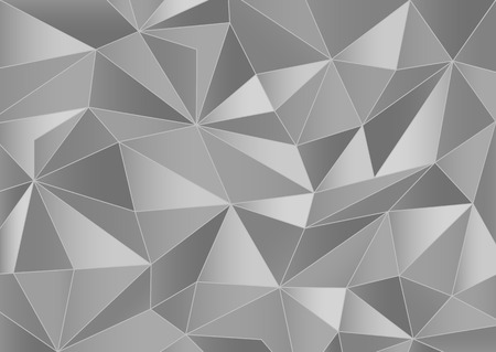 crystallization: Abstract grayscale triangles 3d background